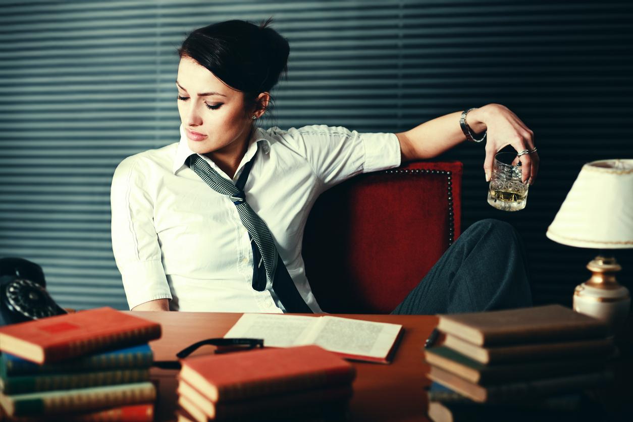 Woman writer seeking inspiration