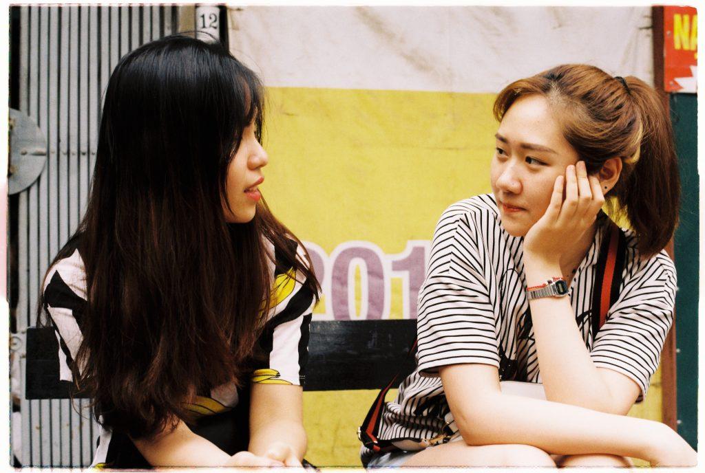 Girlfriends talking